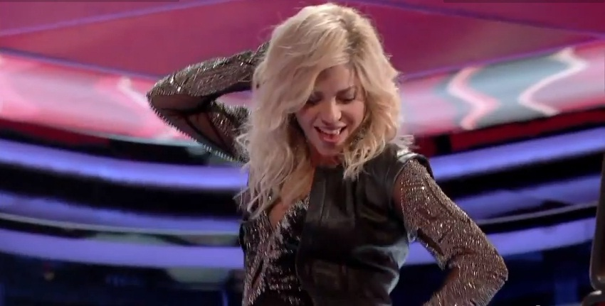 Shakira  The Voice  Season 4 Shakira Baby Bump On The Voice