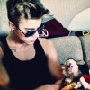 Justin Bieber and his pet monkey Mally