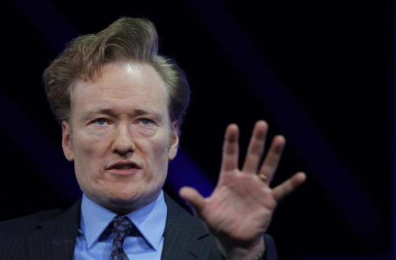 Comedian and talk show host Conan O'Brien is interviewed at The Cable Show in Boston, Massachusetts May 23, 2012.