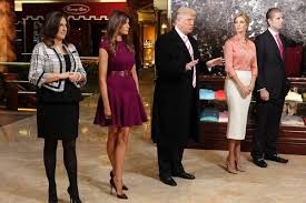 (L-R) Melanie, Donald, Ivanka And Eric Trump