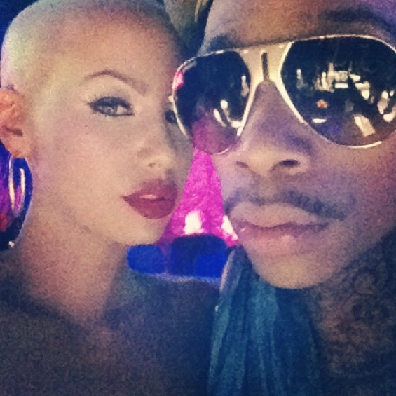Wiz Khalifa  and model Amber Rose.