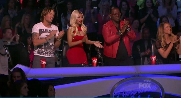 "Nicki Minaj on American Idol 2013 Top 5 ""Divas"" performances night."