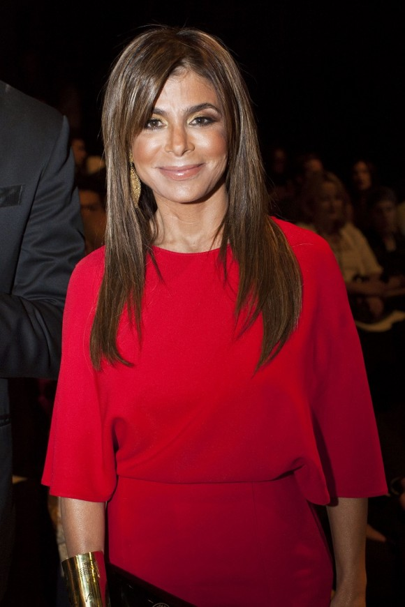 Paula Abdul poses before the Chado Ralph Rucci Spring/Summer 2013 collection show during New York Fashion Week September 9, 2012.