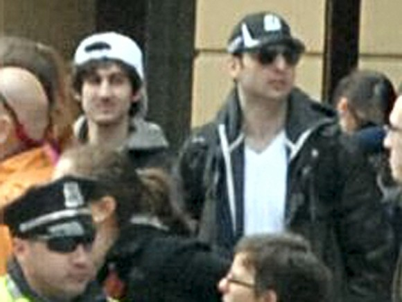 Suspects wanted for questioning in relation to the Boston Marathon bombing April 15 are seen in handout photo released through the FBI website, April 18, 2013.