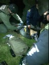 The first image of the second bomber suspect Dzhokhar Tsarnaeva, 19 captured Friday night surfaced online at around 11 p.m. EST showing him been pinned to the floor by police.