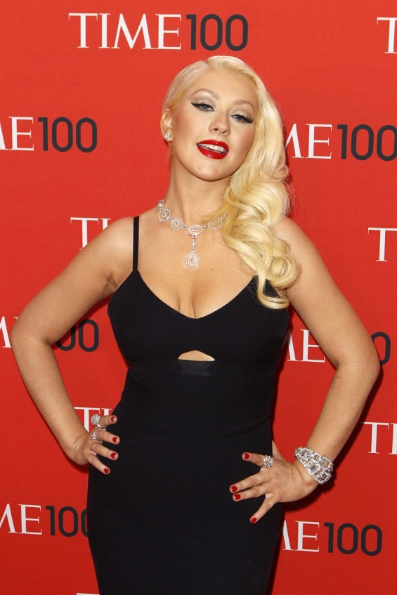 Singer Christina Aguilera arrives for the Time 100 gala celebrating the magazine's naming of the 100 most influential people in the world for the past year, in New York, April 23, 2013.