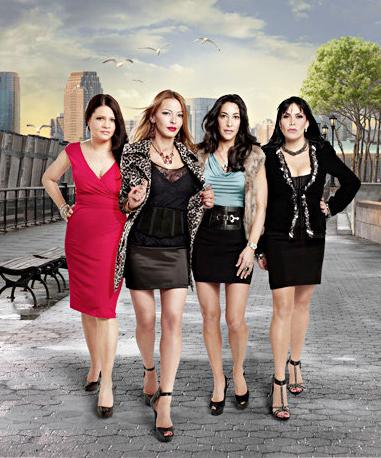 Mob Wives cast (from left) Karen Gravano, Drita D'avanzo, Carla Facciolo and Renee Graziano