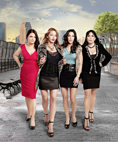 Mob Wives cast (from left) Karen Gravano, Drita D'avanzo, Carla Facciolo and Renne Graziano