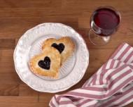 Romantic Heart-Shaped Cherry Pie