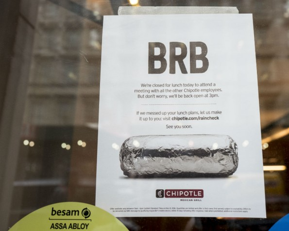Chipotle is offering a free burrito for those who couldn't have lunch there on Feb. 8