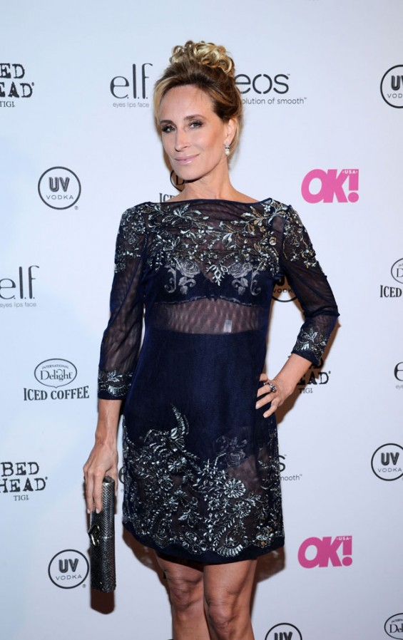 "Sonja Morgan (Real Housewives of New York) poses at the red carpet of Ok! Magazine's 6th annual ""So SEXY"" Event at Marquee in New York City."