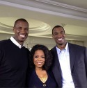 Jason Collins, Oprah Winfrey and Jarron Collins