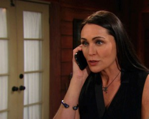 Quinn finds a way to deal with Steffy's need to hear from Liam on the February, 10, 2016 episode of 'The Bold and the Beautiful'