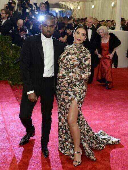 Kim and Kanye West at the 2013 MET Gala