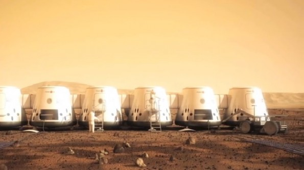 Mars One mission images. How a possible settlement of humans on Mars may look like in 2023.