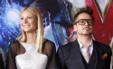 Cast members Robert Downey Jr. and Gwyneth Paltrow pose at the premiere of &#034;Iron Man 3&#034; at El Capitan theatre in Hollywood, California April 24, 2013. 