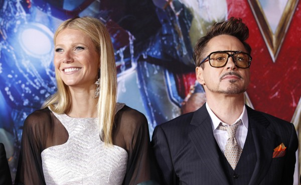 "Cast members Robert Downey Jr. and Gwyneth Paltrow pose at the premiere of ""Iron Man 3"" at El Capitan theatre in Hollywood, California April 24, 2013."