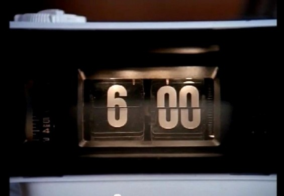 "A scene from the film ""Groundhog Day"" shows a clock. Photo Credit: Columbia Pictures"