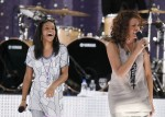 Photo Credit: Reuters/Lucas Jackson - Singer Whitney Houston performs with her daughter, Bobbi Kristina (L), during a taping of Good Morning America on ABC in New York September 1, 2009.