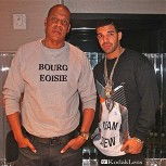 Jay-Z and Drake in studio