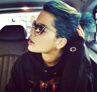 Rita Ora blue hair