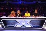 (L-R) Paulina Rubio, Demi Lovato, Kelly Rowland, Simon Cowell