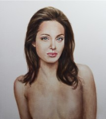 Angelina Jolie portrait.