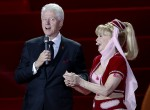 U.S. actress Barbara Eden listens to fomer U.S. President Bill Clinton during the opening ceremony of the 21st Life Ball in Vienna May 25, 2013. Life Ball is Europe's largest annual AIDS charity event