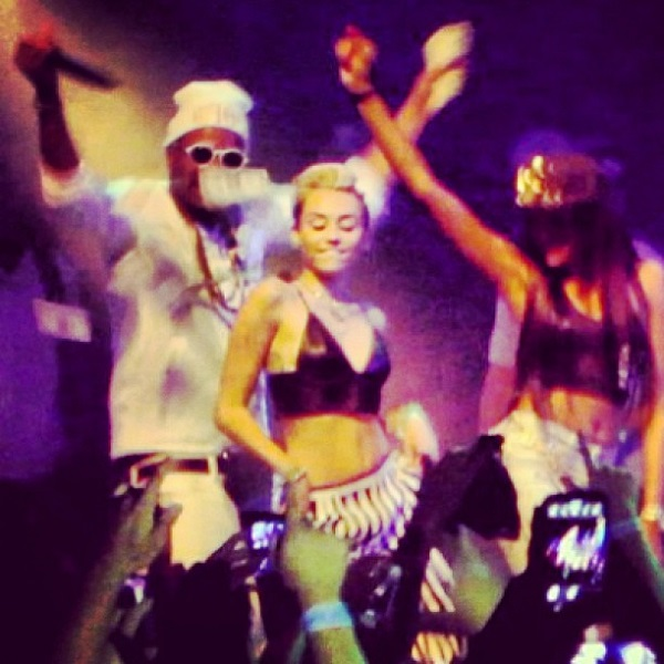 Juicy J and Miley Cyrus