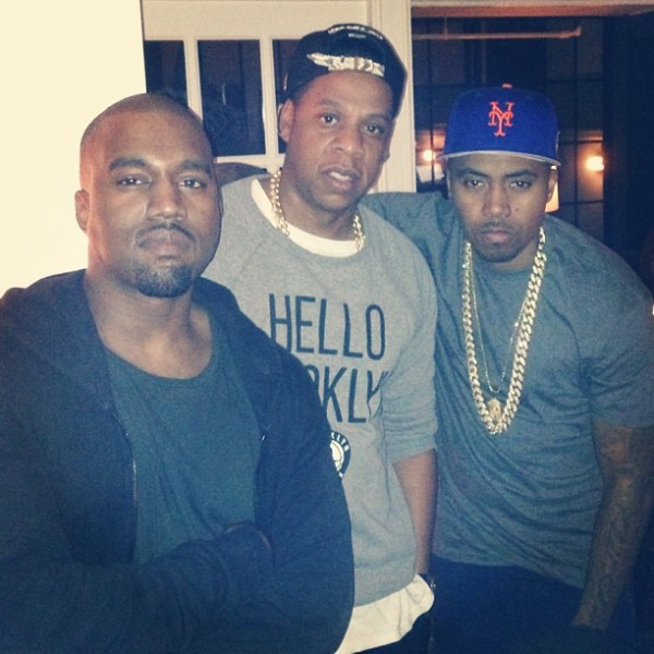 Kanye West, Jay Z and Nas