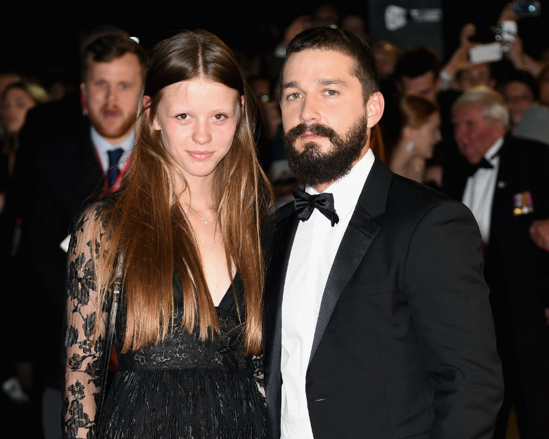 Shia LaBeouf Mia Goth Gets Rocked ... Shows Off Engagement Ring