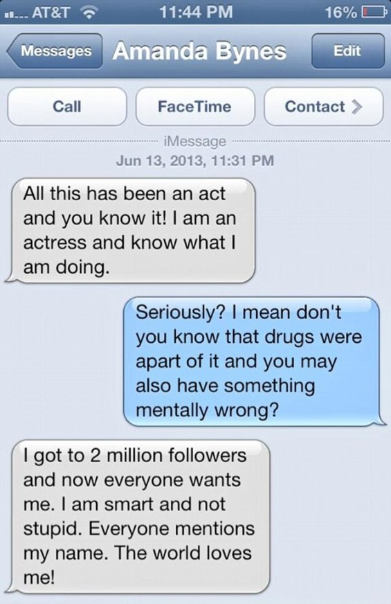 Amanda Bynes' Text Messages