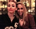 Miley Cyrus Tish Cyrus Dinner - Twitter Photo
