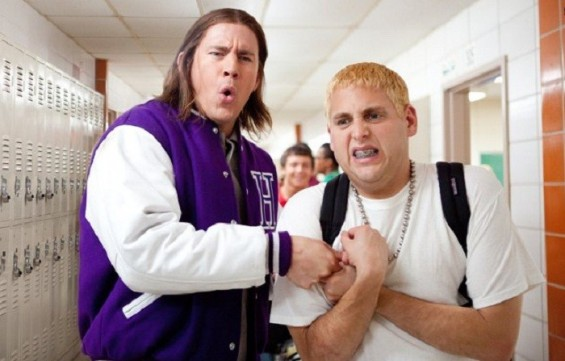Photo Credit: Sony Pictures - Jonah Hill (Right) and Channing Tatum are seein in a still for 21 Jump Street.