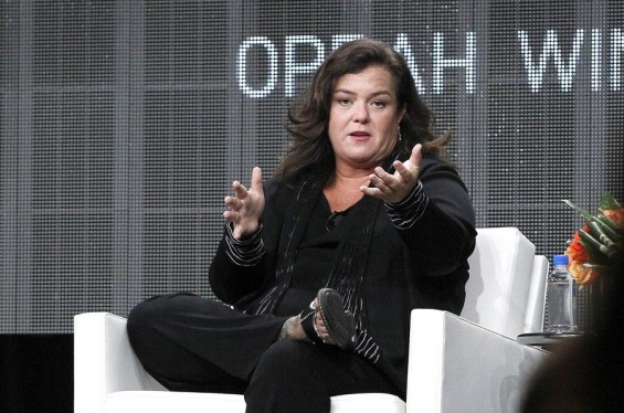 "Host Rosie O'Donnell answers a question during the OWN session for ""The Rosie Show"" at the 2011 Summer Television Critics Association Cable Press Tour in Beverly Hills, California July 29, 2011."
