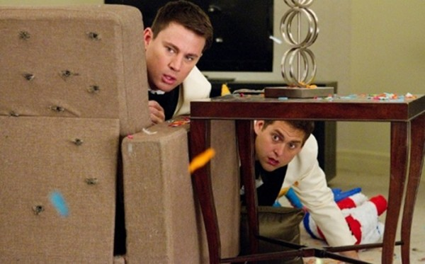 Photo Credit: Columbia Pictures - Channing Tatum (Left) and Jonah Hill are seen in a still from '21 Jump Street.'