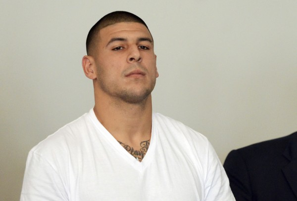 Aaron Hernandez at the Attleboro District Court