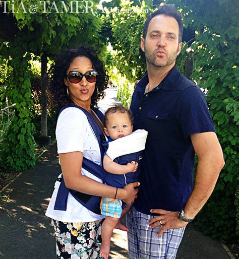 Tamera Mowry, son Aden and husband Adam Housley