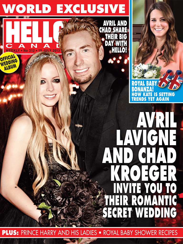 Avril Lavigne And Chad Kroeger Wedding Photos: First Look At Avril's Black  Monique Lhuillier Wedding Dress