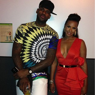 LeBron James and fiancee' Savannah