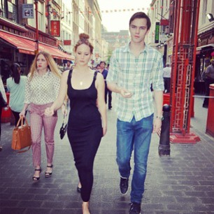 Jennifer lawrence and nicholas hoult photo instagram