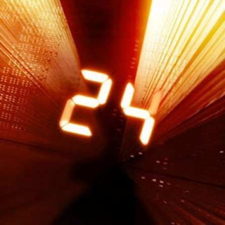 Photo Credit: Fox via Hulu - A logo for the TV show '24'