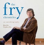 Photo Credit: Michael Joseph publisher - Actor Stephen Fry on a cover of his audiobook autobiography the fry chronicles.'