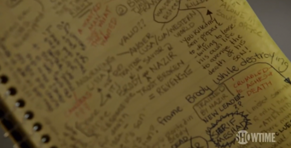 Homeland - Carrie's notebook