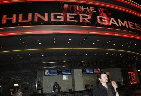 Photo Credit: Reuters/Jonathan Alcorn - The Regal Cinemas is seen during the opening night of &#039;&#039;The Hunger Games&#039;&#039; in Los Angeles, California March 22, 2012.