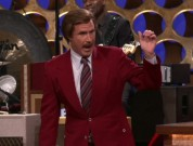 "Photo Credit - Conan/TBS - Will Ferrell, playing the role of local broadcaster Ron Burgundy, appears on ""Conan"" on March 28, 2012."
