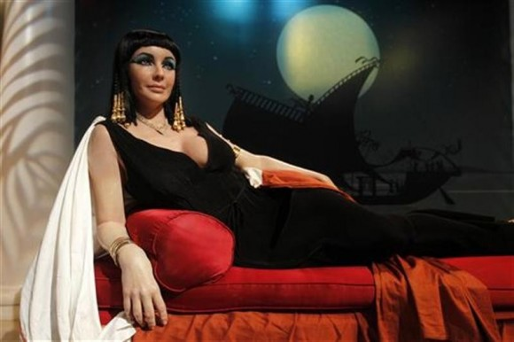 Photo Credit: Fred Prouser/Reuters - The wax figure of actress Elizabeth Taylor in her role as 'Cleopatra' is pictured at Madame Tussauds Hollywood in Hollywood, California March 23, 2011.