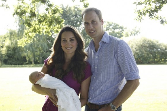 Prince William and Kate Middleton release first photos of Prince George