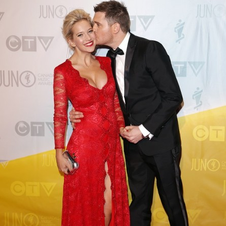 Michael Buble and his wife Luisana Lopilato