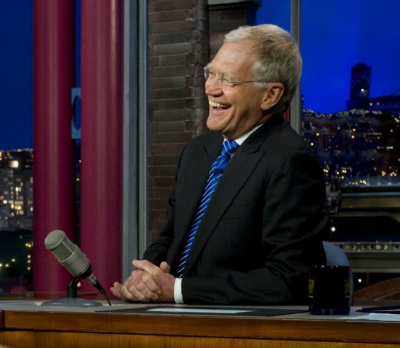 Photo Credit: Chad J. McNeeley - David Letterman laughs during an interview on the Late Show in New York City on June 13, 2011.